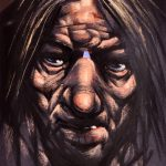 Peter.Howson.Big.Nose.Pastels.11x8.5.1900