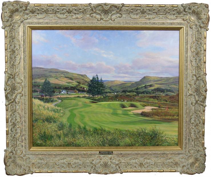 Donald Shearer_The 1st PGA Centenary, Gleneagles_Oils_24x30