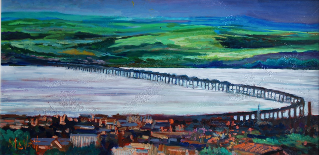 Timmy Mallett.Across the Tay .Signed Ltd Edition Canvas_print