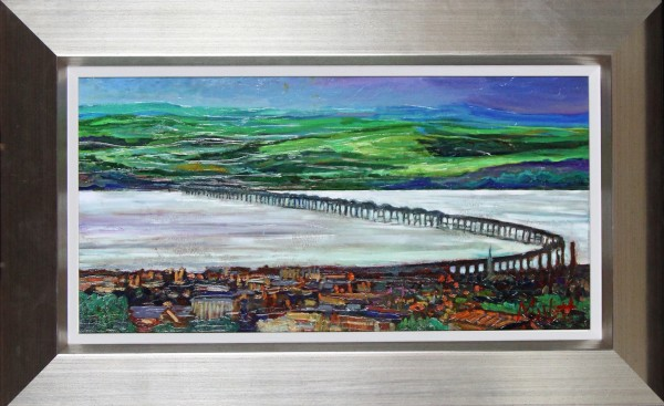 Timmy Mallett_Across The Tay_19x31_Framed Print On Canvas