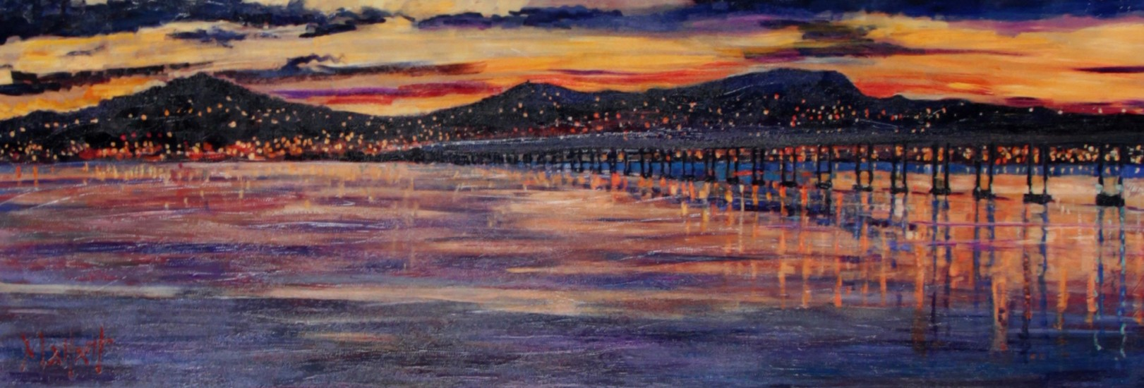 Timmy Mallett_Sunset Over Dundee_12x22
