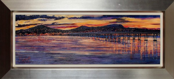 Timmy Mallett_Sunset Over Dundee_19x31_Framed Print on Canvas