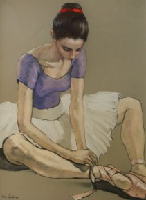 Katya Gridneva_Ballerina in Red Head Band_Pastel_26x20.3.500.jpg