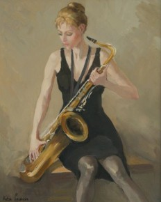Katya Gridneva_Girl with Saxaphone_Oils_15x12.2.200.jpg