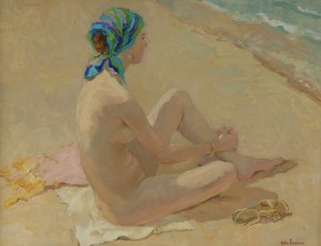 Katya Gridneva_On the Beach_Oils_20x25.5_4.500.jpg