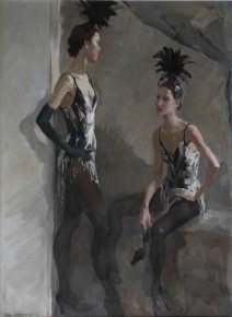 Katya Gridneva_Show Girls_Oils_31x23_6.000