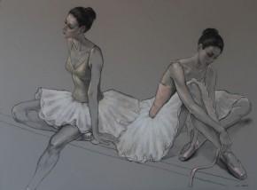Katya Gridneva_Tying Pink Shoes_Pastel_36x47.5.900.jpg