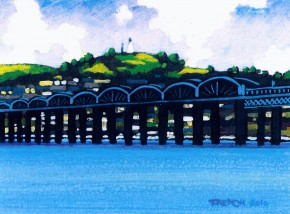Stephen French_Tay Bridge & Dundee Law_6.75x5_13.50