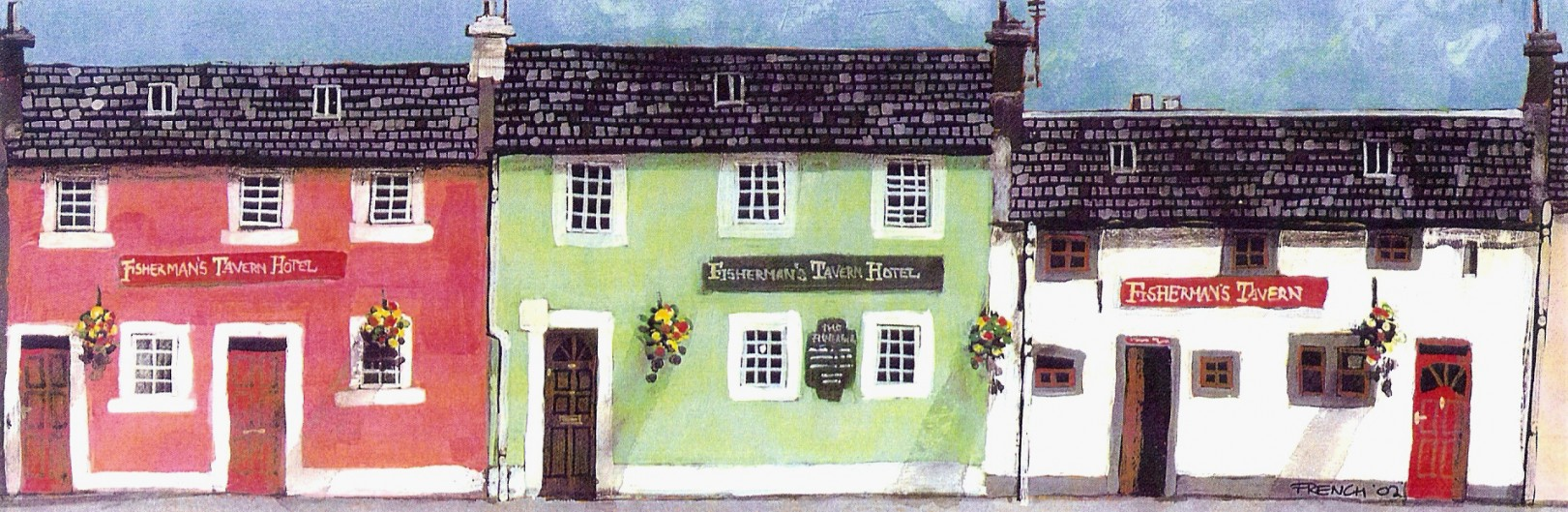 Stephen French_The Fisherman's, Broughty Ferry (Small)_9.5x3.25_13.50