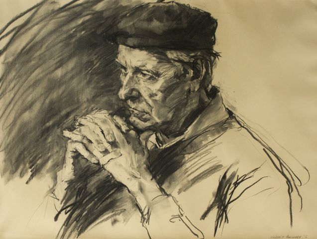 Valeriy Gridnev_Wondering_Charcoal on paper_20x25.5_4.500.jpg