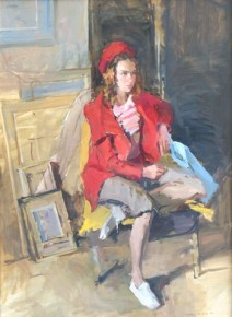 Valeriy Grindev_Seated Girl in Studio_Oils_30x22_6.500.jpg