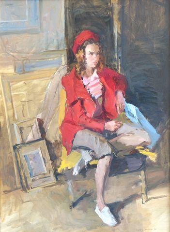 Valeriy Grindev_Seated Girl in Studio_Oils_30x22_6.500.jpg