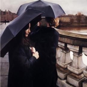 Gerard Burns_Rainy Day Over the Glasgow Bridge_395