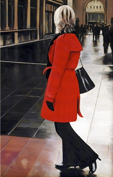 Gerard Burns_Red Coat in Royal Exchange Square_425