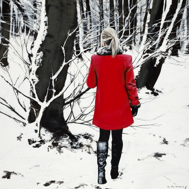 Gerard Burns_Red Coat in Winter_395