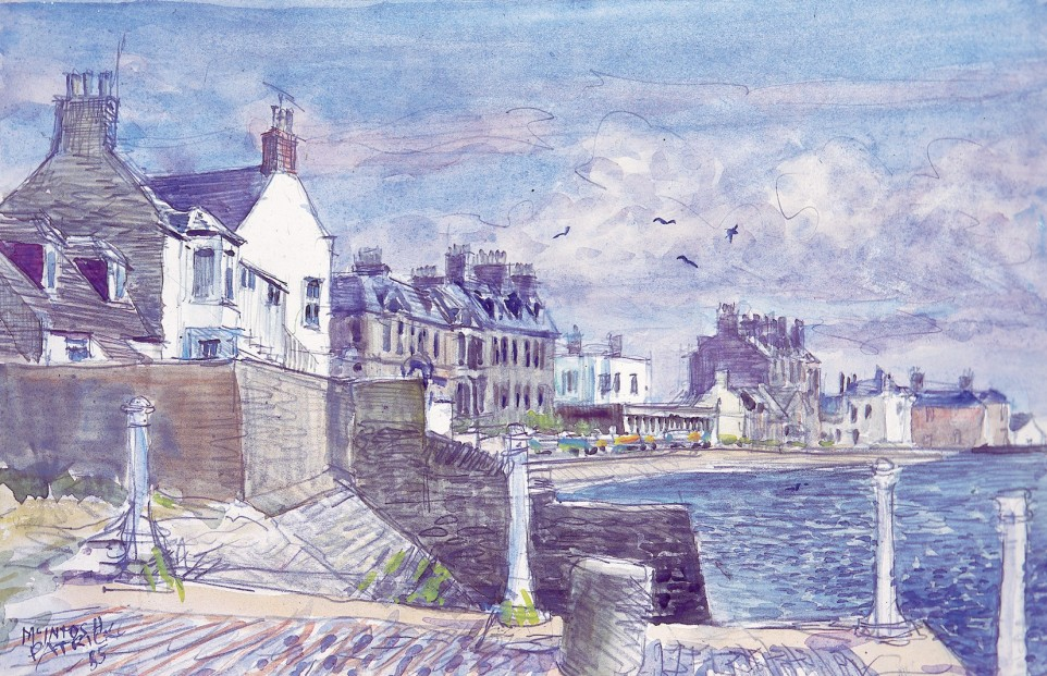 James McIntosh Patrick_Beach Crescent, Broughty Ferry (Sketch)_9x14