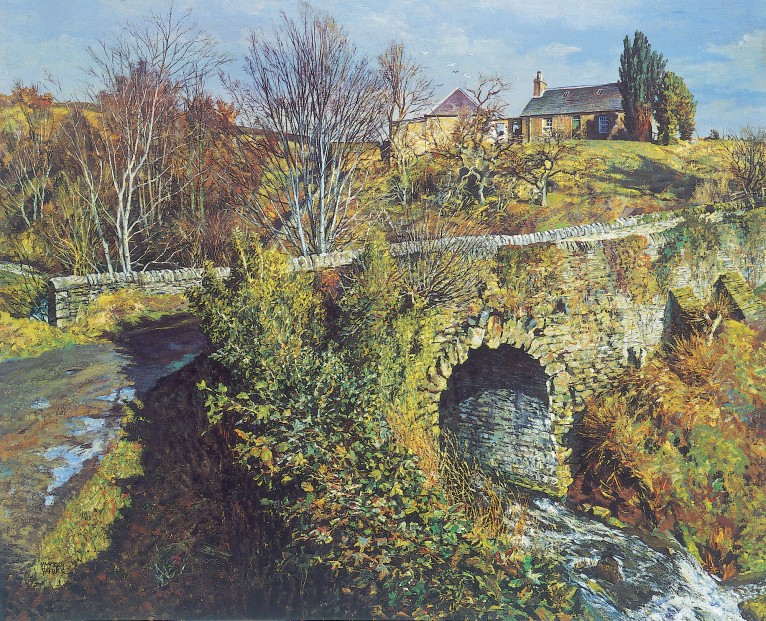 James McIntosh Patrick_Bridge, Den O'Fowlis_18x22