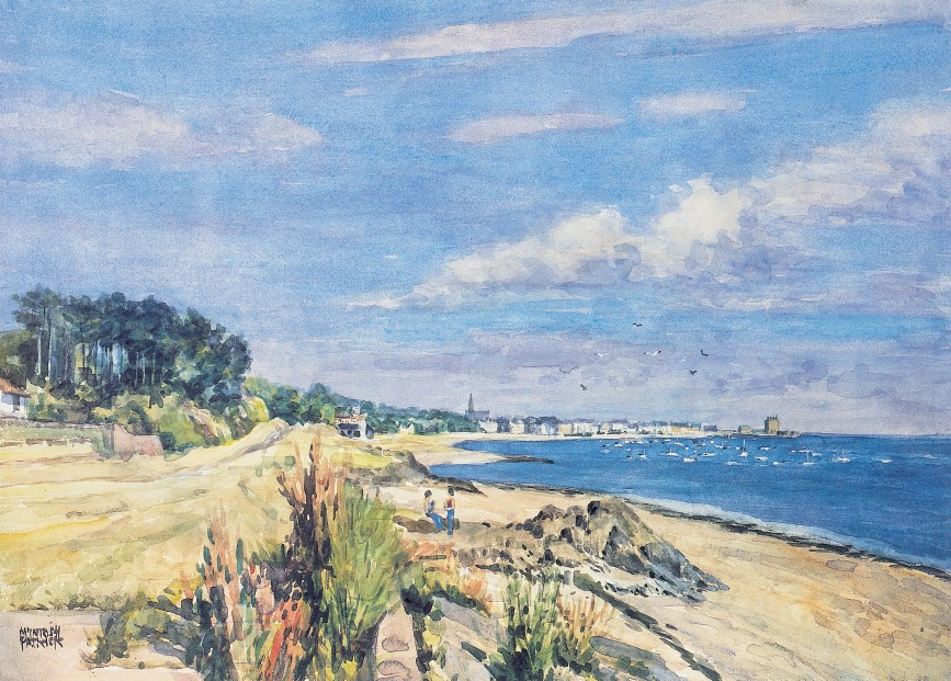 James McIntosh Patrick_Broughty Ferry from Grassy Beach_15.5x21.5
