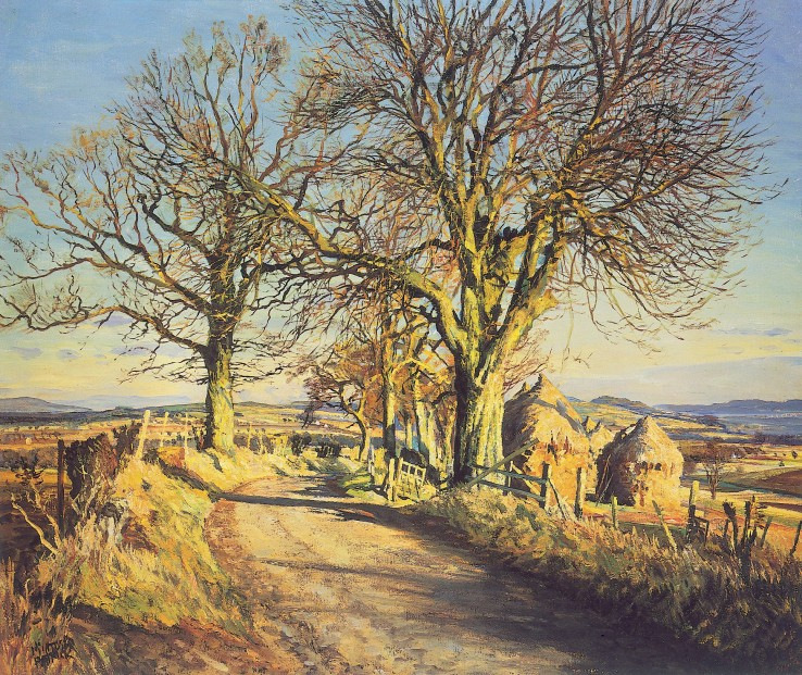 James McIntosh Patrick_Chestnut Trees at Dron_16.5x20