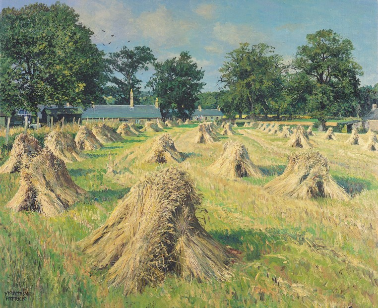 James McIntosh Patrick_Wheatstooks_16.5x20.5