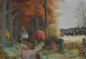 Joseph Maxwell_Autumn Archway Stirlingshire_c.1997_watercolour and mixed media_20x29.