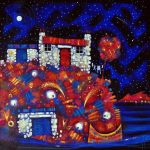 Ritchie Collins_Fishin' Hoose Blues_Mixed Media on Canvas_24x24_995