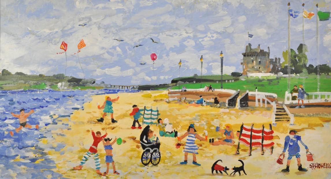 Sue Howells_Summer at Last, Broughty Beach_11x18.5