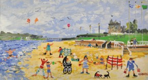 Sue Howells_Summer at Last, Broughty Beach_11x18.5