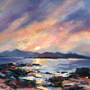 Dronma_Sunset over Skye17x17