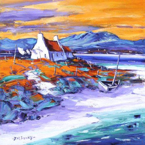Jean Feeney_Evening on the Shore, Loch Ewe_17x17