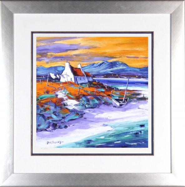 Jean Feeney_Evening on the Shore, Loch Ewe_Framed 29x29