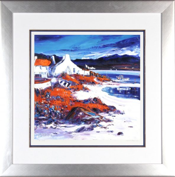Jean Feeney_Signed Limited Edition Print_Mhairi's Monday Morning_Framed 29x29