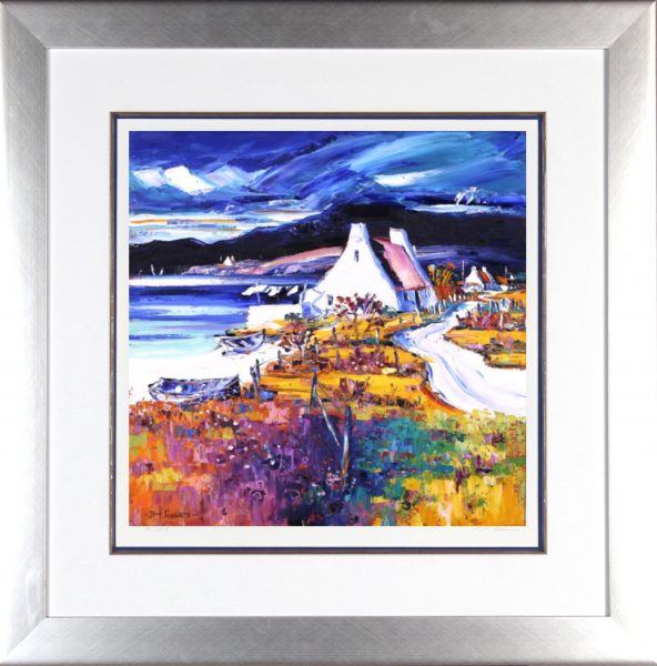 Jean Feeney_Signed Limited Edition Print_On The Road to Ardmair_Framed 29x29