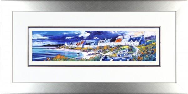 Jean Feeney_Signed Limited Edition Print_Portnahaven, Islay_Framed 18x34