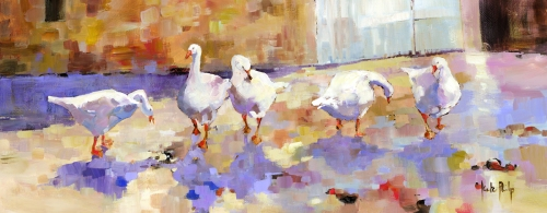 Kate Philp_Geese_8.5x22