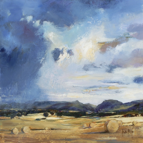 Kate Philp_Sky After Harvest_17x17