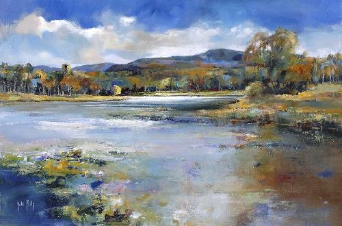 Kate Philp_Water Lillies, Rothiemurchus_14.5x22
