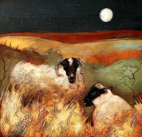 Lesley McLaren_Blackies Under a Moon_8.5x9