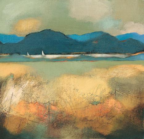 Lesley McLaren_Blue Hills_15x15.75
