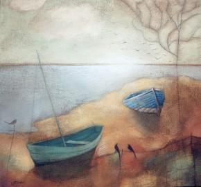 Lesley McLaren_Boats at Dusk_8.5x9