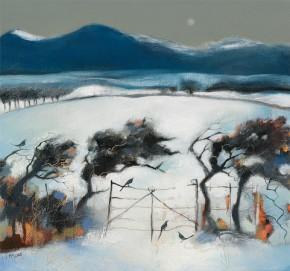 Lesley McLaren_Hawthorns in Snow_13.75x15.75