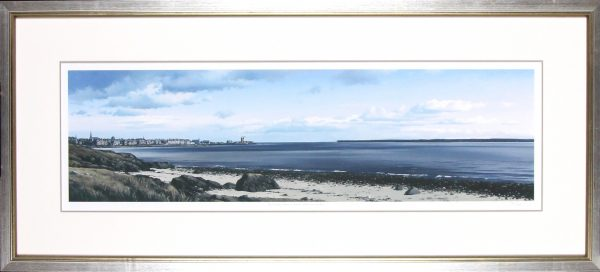 Ian Johnstone_Broughty Ferry from the Stannergate_20x44.5_Framed Print