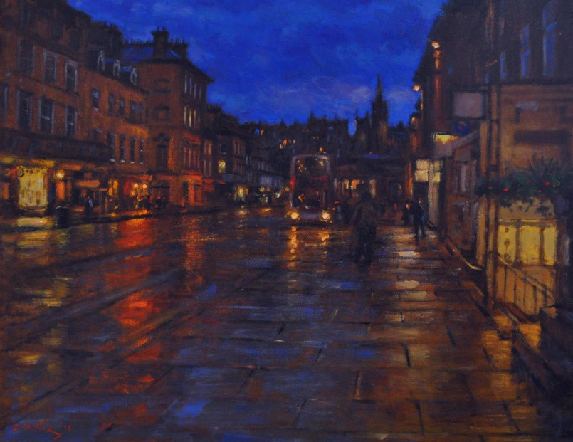 John Mackie_Edinburgh The Evening Bus_Oils_24x30_2950
