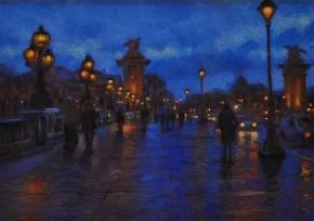 John Mackie_Pont Alexandre, Paris_Pastels_22x30_1750