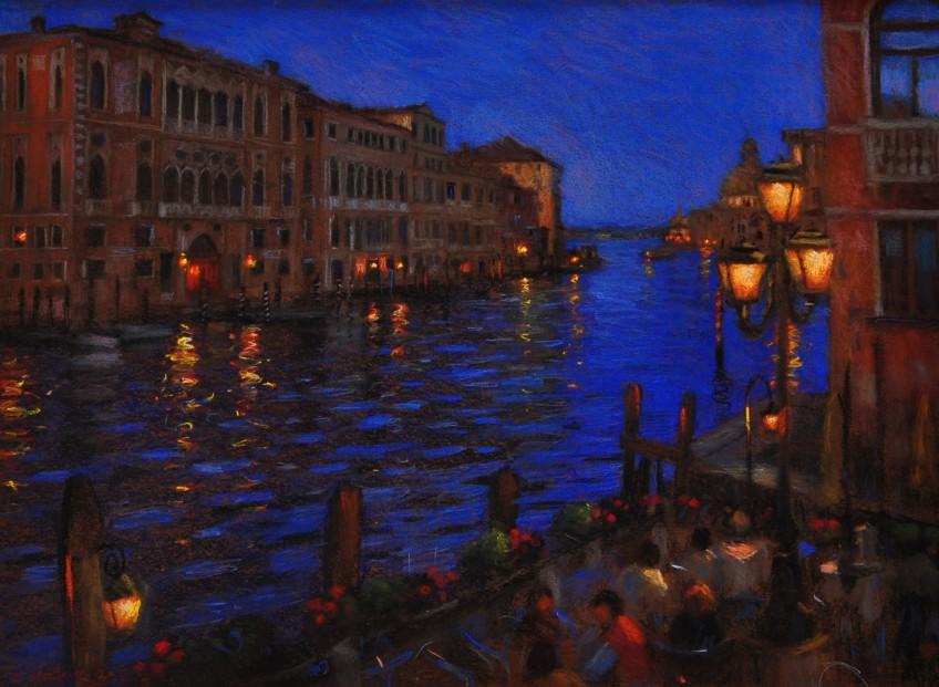 John Mackie_Venice By Night_Pastels_23x31_1750