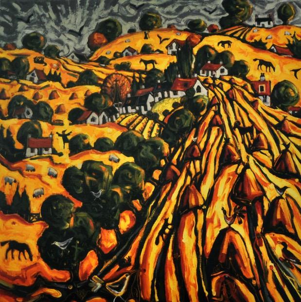 C. Monteith Walker_Golden Harvest_23x23