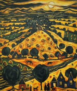 C. Monteith Walker_Harvest Moon_21.5x18