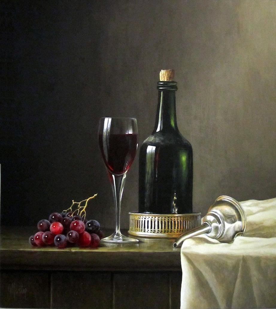 Ian MastinOne Last Glass..Acrylics.Image.size.16x14inches.2000