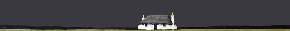 Ron.Lawson.South.Uist.Cottage.Watercolourandgouache.