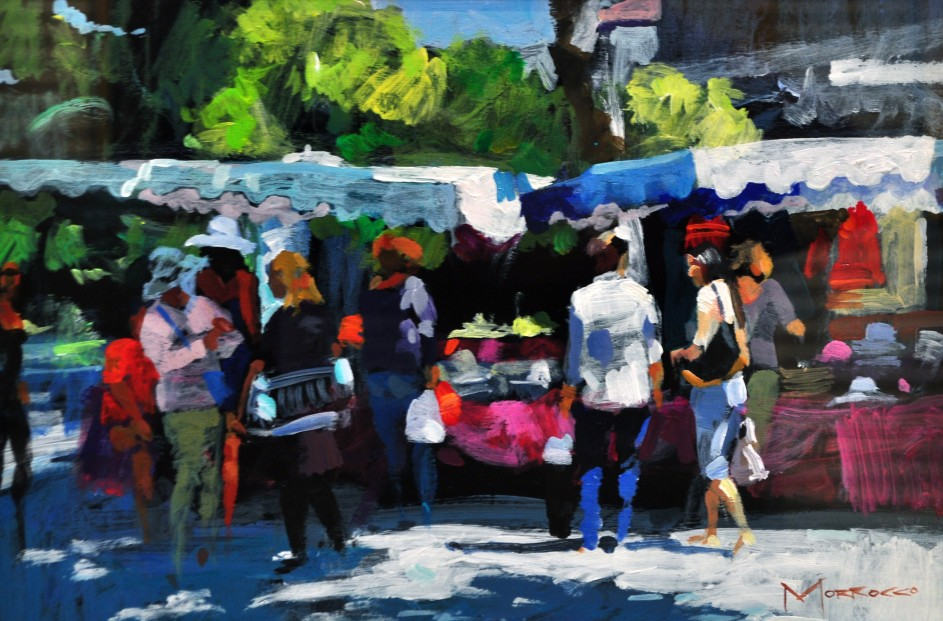 35.Jack Morrocco_The Hat Stall, Montpellier_8x12_Acrylic